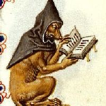 Picture of a fox (Renard) reading a book